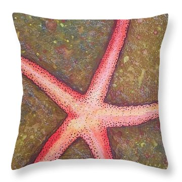 Starfish Throw Pillow