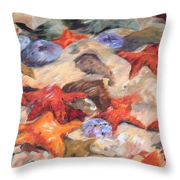 Starfish Throw Pillow by Enzie Shahmiri