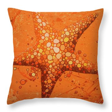 Starfish In Coral Throw Pillow