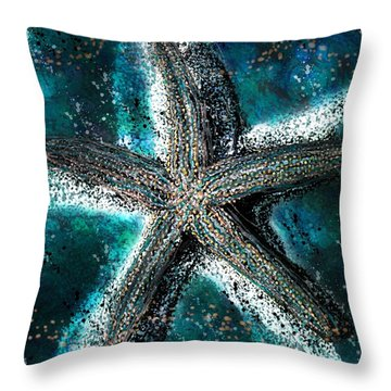 Starfish Ocean Deep Throw Pillow