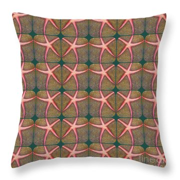 Starfish Pattern Throw Pillow