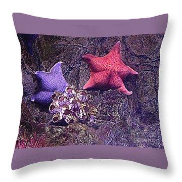 Starfish Pink Starfish Blue Throw Pillow