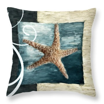 Starfish Spell Throw Pillow by Lourry Legarde