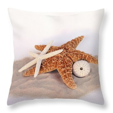 Starfish Still Life Throw Pillow