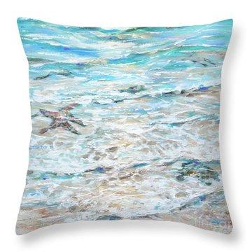 Starfish Under Shallows Throw Pillow