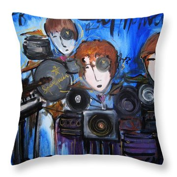 Starfucker At Monolith Throw Pillow