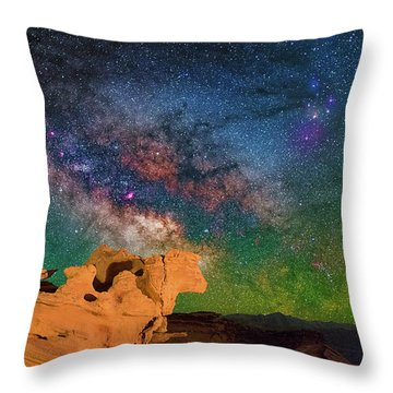 Stargazing Bull Throw Pillow