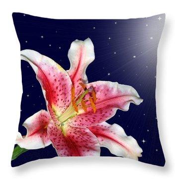 Stargazing Throw Pillow by Kristin Elmquist