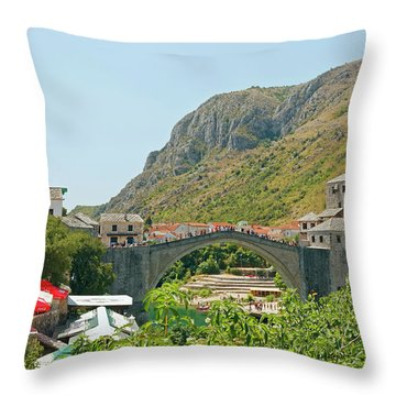 Stari Most Throw Pillow