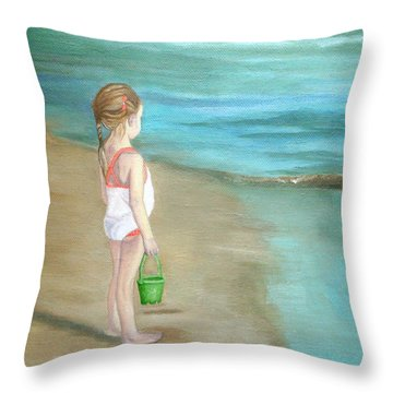 Staring At The Sea Throw Pillow