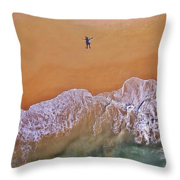 Throw Pillow featuring the photograph Staring At The Sky by Keiran Lusk
