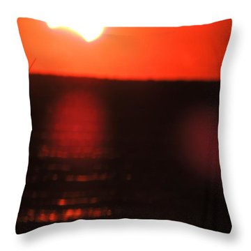 Staring Into A Star Eclipsed Throw Pillow