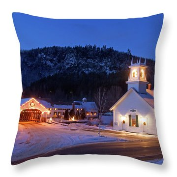 Throw Pillow featuring the photograph Stark New Hampshire by Robert Clifford