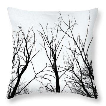 Stark Silhouettes Throw Pillow