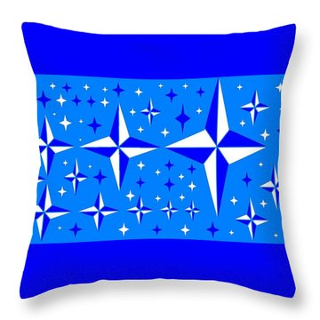 Starlight 9 Throw Pillow by Linda Velasquez