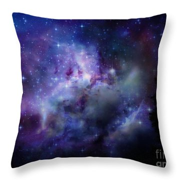 Starlight Throw Pillow by Christy Ricafrente