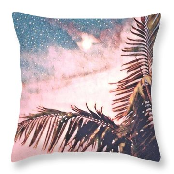 Starlight Palm Throw Pillow