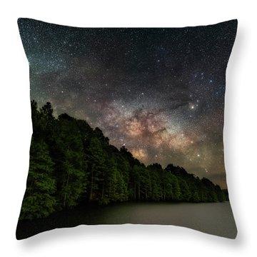 Starlight Swimming Throw Pillow