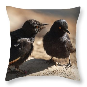 Starling Discussion. Throw Pillow