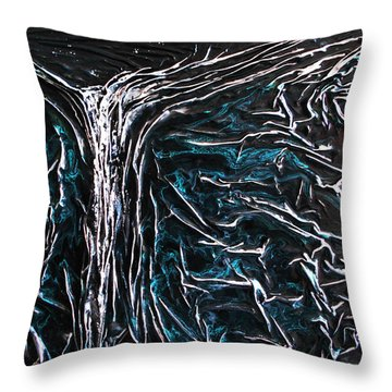 Starlit Waterfall Throw Pillow by Angela Stout