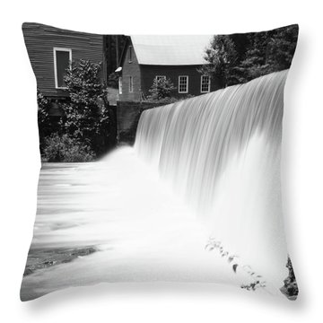 Starr's Mill Waterfall Throw Pillow