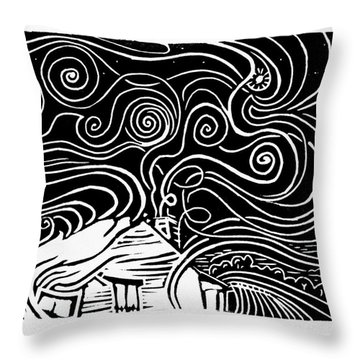 Starry Cabin Throw Pillow