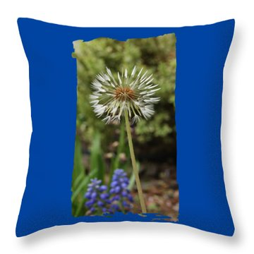 Starry Dandelion Throw Pillow