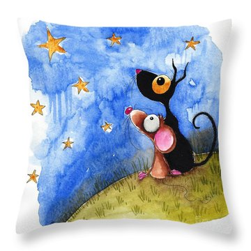 Starry Evening Throw Pillow