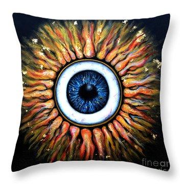 Starry Eye Throw Pillow