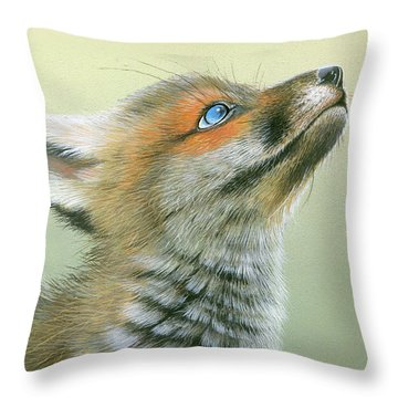 Starry Eyes Throw Pillow