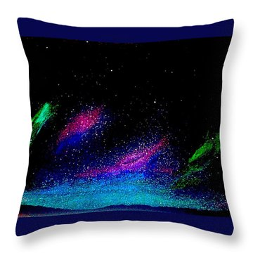 Throw Pillow featuring the painting Starry Night 2 by Scott Wilmot