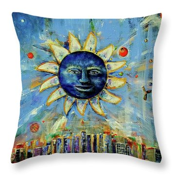 Starry Night 2017 Throw Pillow