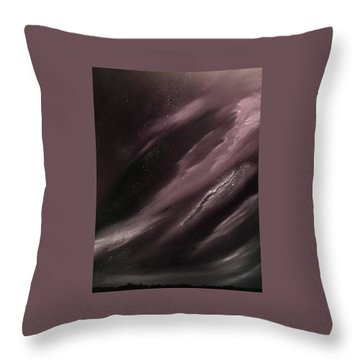 Throw Pillow featuring the painting Starry Night 3 by Scott Wilmot