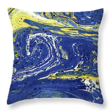 Throw Pillow featuring the painting Starry Night Abstract by Menega Sabidussi