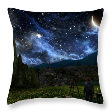 Galaxy Throw Pillows