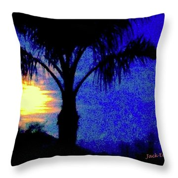 Starry Night At Casapaz Throw Pillow by Jack Eadon