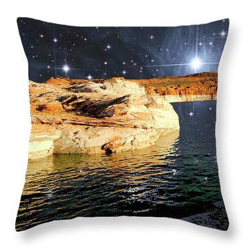 Starry Night Fantasy, Lake Powell, Arizona Throw Pillow