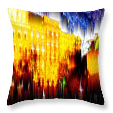 Throw Pillow featuring the digital art Starry Night In Prague by Seth Weaver