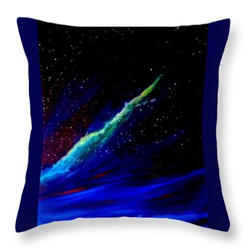 Throw Pillow featuring the painting Starry Night by Scott Wilmot