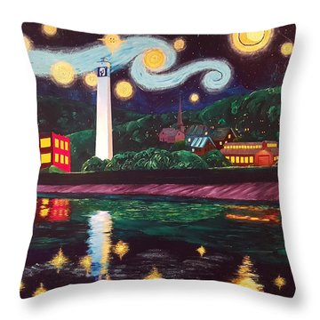 Starry Night With Little Joe Throw Pillow
