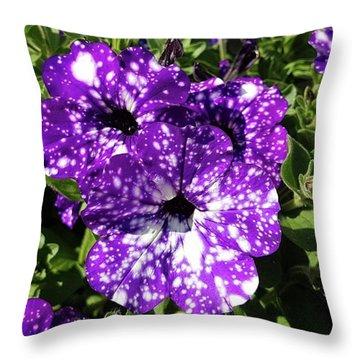 Starry Petunias... Throw Pillow