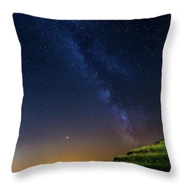 Starry Sky Above Me Throw Pillow