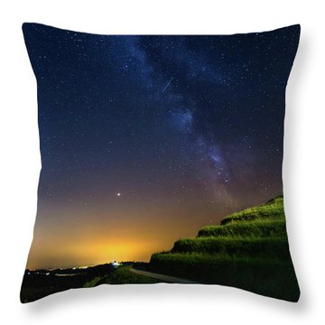 Starry Sky Above Me Throw Pillow
