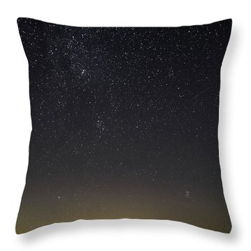 Starry Sky Over Virginia Farm Throw Pillow