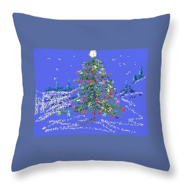 Starry, Starry Night Throw Pillow by Carol Berning