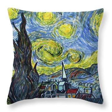 Starry, Starry Night Throw Pillow