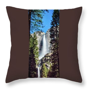 Starry Yosemite Falls Throw Pillow