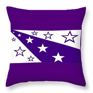 'stars 21' Or 'purple Stars' Throw Pillow