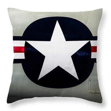 Stars And Bars Throw Pillow by Jon Burch Photography