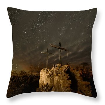 Stars And Crosses Throw Pillow